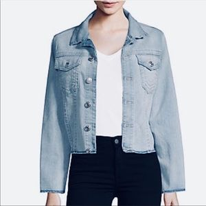 NWT True Religion Trucker Denim Cropped Jacket